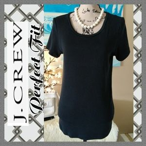 EUC J. Crew Perfect Fit Black Tee